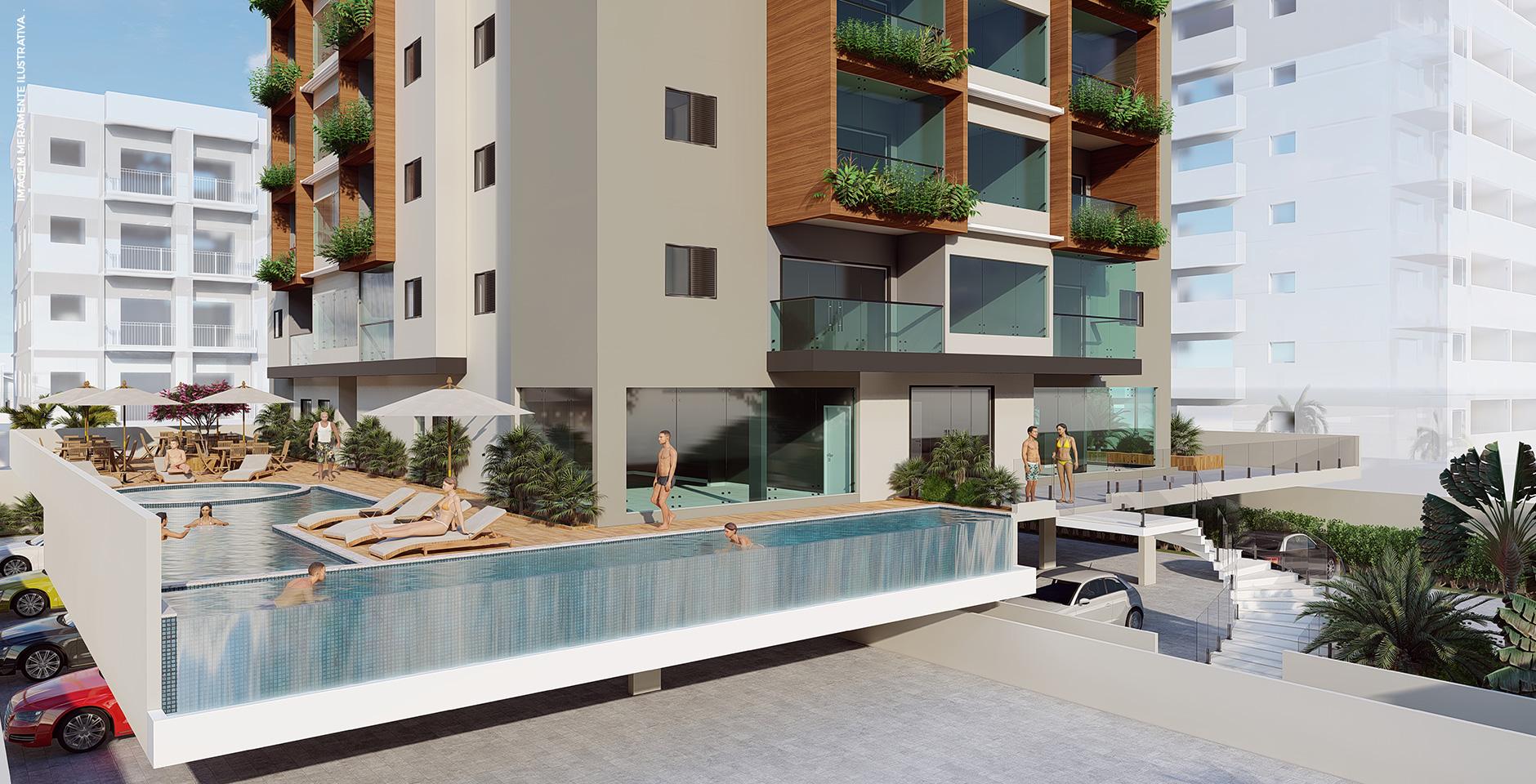 Área da piscina - fachada